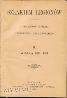 Wojna 1830-1831 - pamiętniki gen.Chłapowskiego.