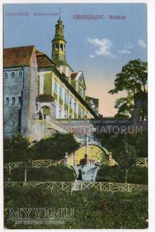 Grudziądz Graudenz do 1918 - Ratusz od stron Wisły
