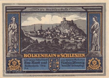 Notgeld Bolkenhain in Schlesien 1,50 M