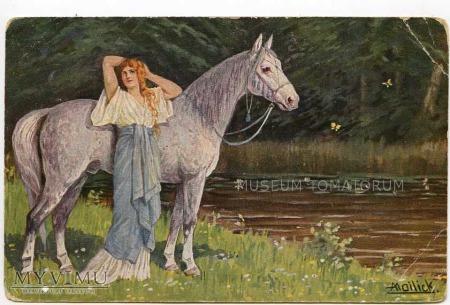 Duże zdjęcie Mailick - Leśny prawie akt z koniem