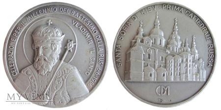 Obchody Millenium chrztu Rusi medal (Włochy) 1988