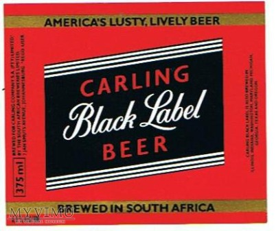 carling - black label beer