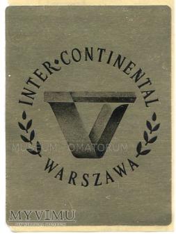 Duże zdjęcie Nalepka hotelowa - Warszawa - Inter Continental