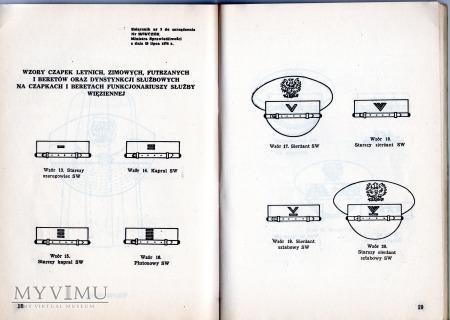 Przepisy o umundurowaniu F-szy SW 1976