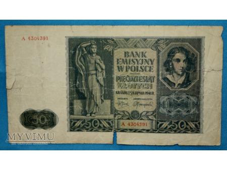 50 Złotych 1941