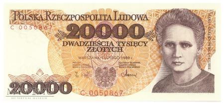 Polska - 20 000 złotych (1989)