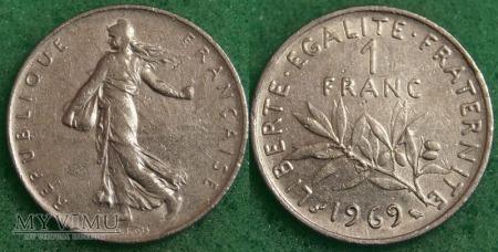 Francja, 1 FRANC 1969