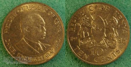 Kenia, 10 cents 1986