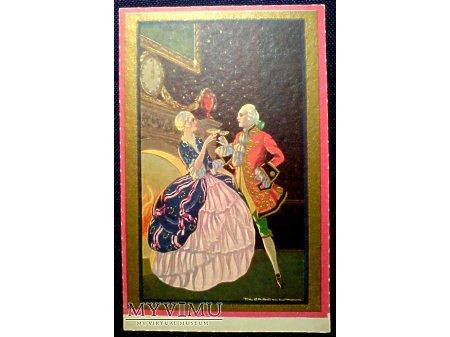 Corbella Pocztówka Noworoczna SYLWESTER Art Deco