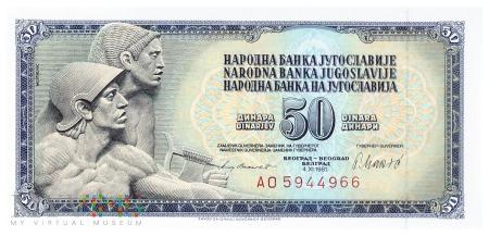 Jugosławia - 50 dinarów (1981)