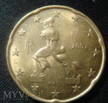 Duże zdjęcie 20 centów Włochy 2002