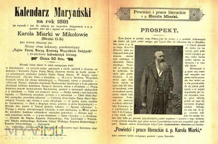 Duże zdjęcie Ulotka reklamowa- K. Miarka- 1890