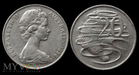 Australia, 20 centów 1980