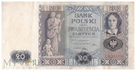Polska - 20 złotych (1936)