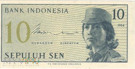 INDONEZJA 10 SEN 1964