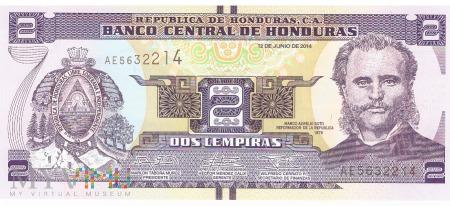 Honduras - 2 lempiry (2014)