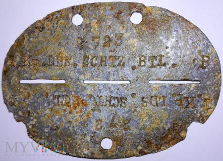 nieśmiertelnik z okresu II w.ś. niemiecki