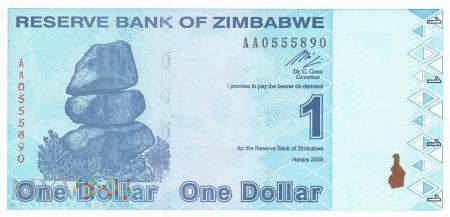 Zimbabwe - 1 dolar (2009)