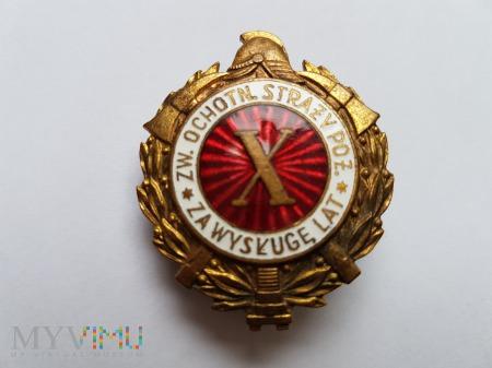 Odznaka Za Wysługę X Lat Jednoczęściowa Wypukła