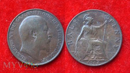 Wielka Brytania, half penny 1903
