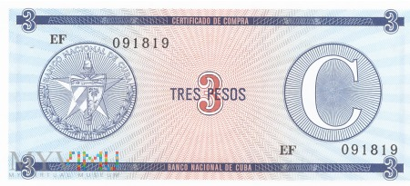 Kuba - 3 pesos (1985)