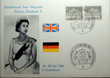 Niemcy Elżbieta II 1965 Hamburg