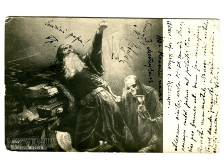 Duże zdjęcie Mihály Zichy KOSTUCHA Śmierć 1907 Bezsilność