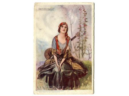 MAUZAN Cyganka ART DECO 1920 Włochy