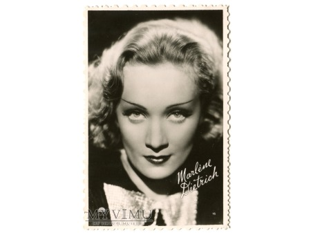 Duże zdjęcie Marlene Dietrich portret pocztówka Francja nr 16