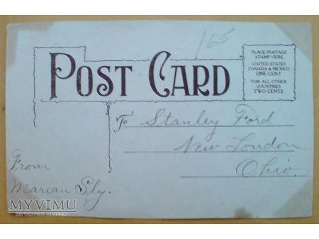 c. 1910 KOCIA ORKIESTRA Pocztówka z USA KOTY