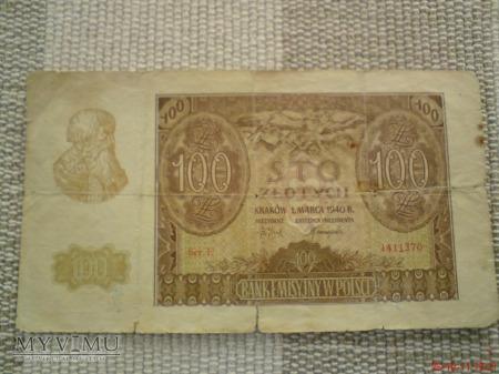 100 złotych 1940 r.
