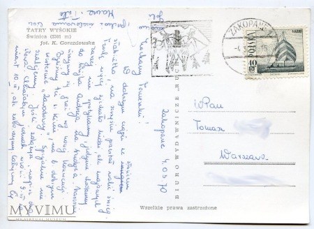 Tatry Świnica - 1969