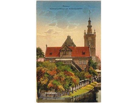 Danzig - Müllergewerkshaus mit Katharinenkirche