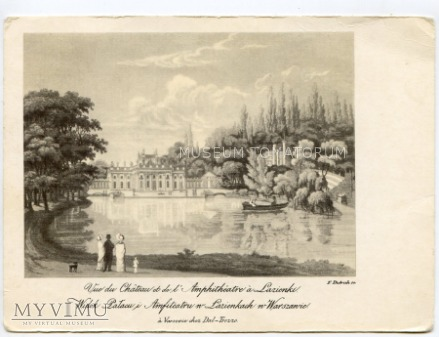 Warszawa - Łazienki - Pałac od frontu - 1820 ok.