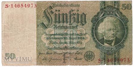 Niemcy, 50 marek 1933r. Ser.S