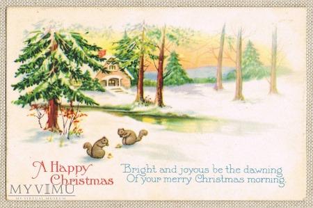 Wesołych Świąt dwie wiewiórki