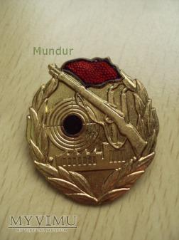 Odznaka: Schießabzeichen der Kampfgruppen - złota