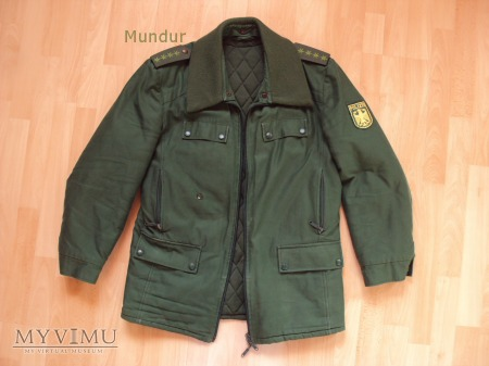 Polizei - zielona kurtka zimowa