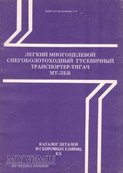 Transporter MT-LB W. Katalog części z 1984 r.