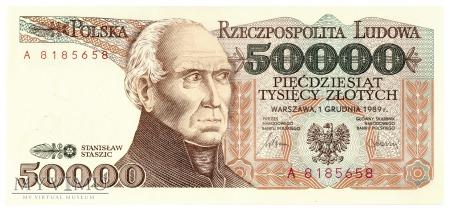 Duże zdjęcie Polska - 50 000 złotych (1989)