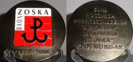 212.60 rocz.przekształcenia O.S.JERZY w Bat. ZOŚKA