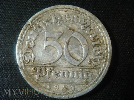 50 pfennig 1921r ,A