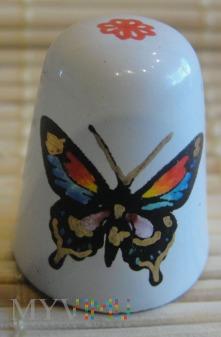Naparstek emaliowany- motyl