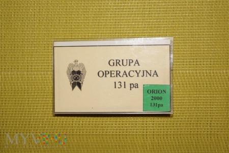 GRUPA OPERACYJNA 131 pa ORION 2000