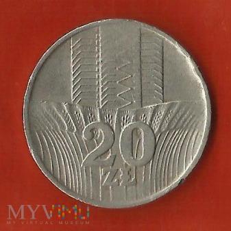 Polska 20 złotych, 1974
