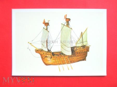Statek żaglowy z XV wieku