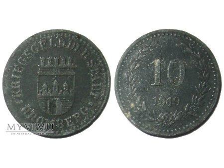 Duże zdjęcie 10 fenigów żeton-moneta zastępcza Bydgoszczy 1919