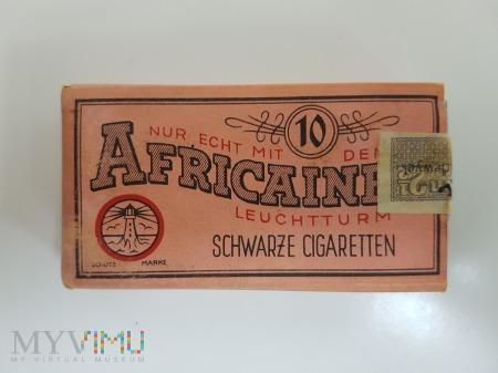Papierosy AFRICAINE 10 szt. III Rzesza