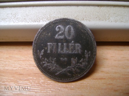 20 filler Węgry 1916