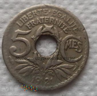 Francja - 5 centymów - 1921 rok